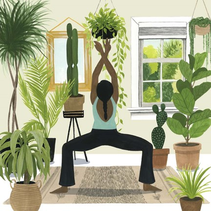 Framed Indoor Asana II Print