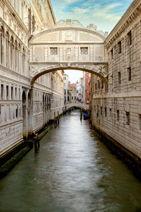 Framed Bridge Of Sighs #1 Print