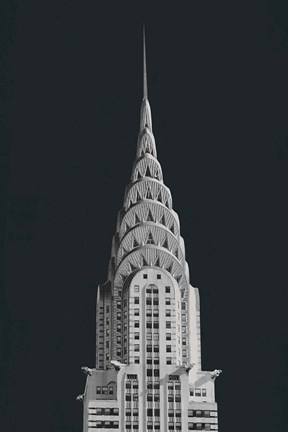 Framed Chrysler Building on Black Print