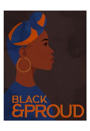 Framed Black and Proud Woman Print