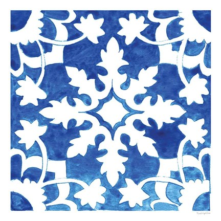 Framed Andalusian Tile II Print
