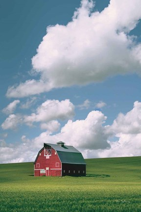 Framed Palouse Region Red Barn II Print