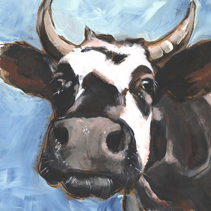 Framed Cattle Close-up II Print