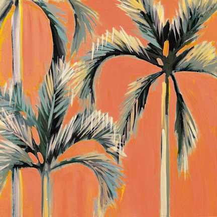 Framed California Orange Palms Print