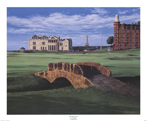 Framed Old Course, St.Andrews Print