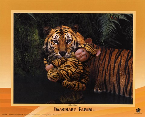 Framed Imaginary Safari Tiger Print