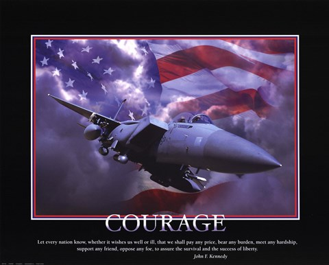 Framed Patriotic-Courage Print