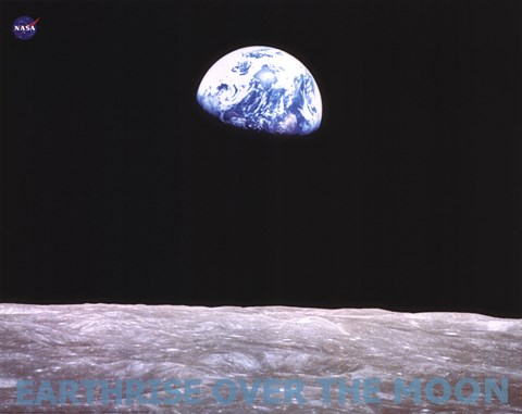 Earthrise Over The Moon Fine Art Print By Unknown At