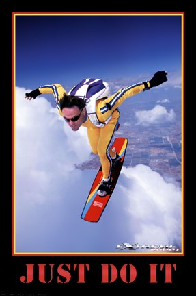 just do it extreme sport wall poster by unknown at fulcrumgallery com