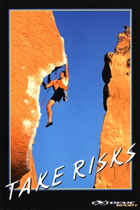 Framed Take Risks - Extreme Sport Print