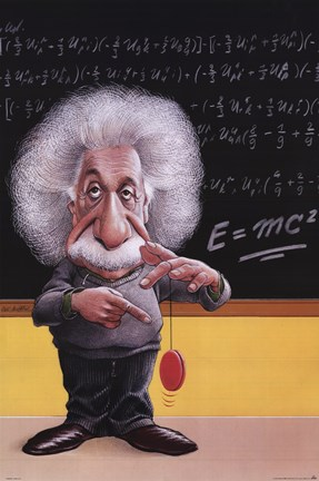 Framed Einstein-E=Mc2 Print
