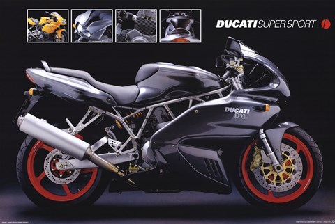 Framed Motorcycle Ducati Super Sport Print