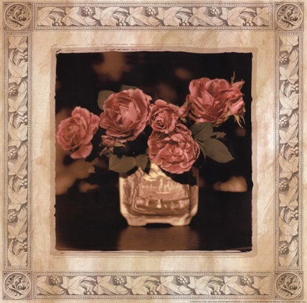 Framed Imperial Rose II Print