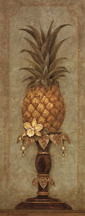 Framed Pineapple and Pearls II Print