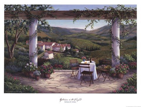 Framed Afternoon in the Vineyard Print