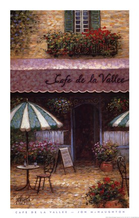 Framed Cafe De La Vallee Print