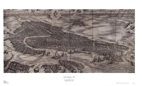 Framed Venice Perspective, 1501 Print