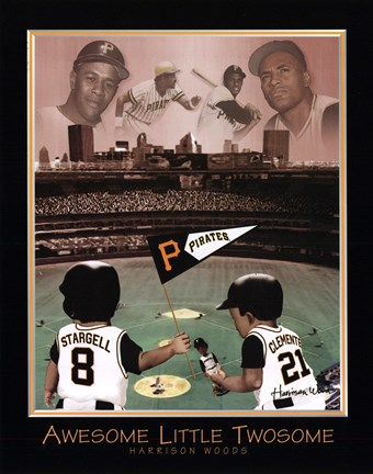 Framed Awesome Little Twosome - Clemente & Stargell Print