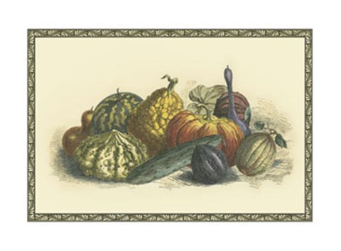 Framed Melons and Gourds Print