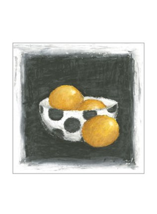 Framed Oranges in Bowl Print