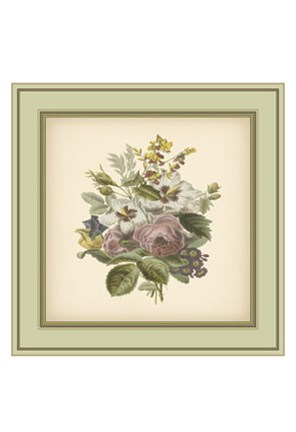 Framed Tuscany Bouquet (P) XII Print