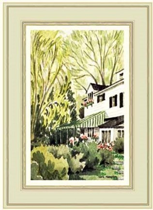 Framed Garden view of a house in Milbrook Print