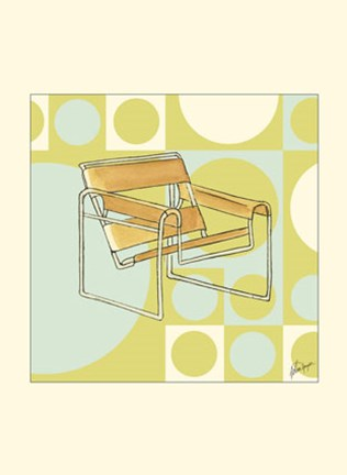 Framed Modern Chair III Print