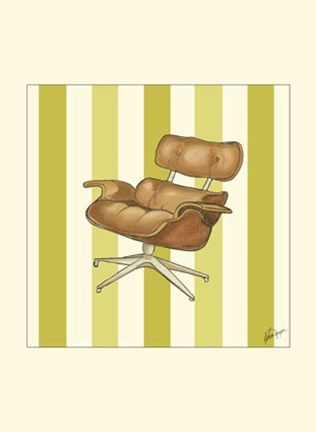 Framed Modern Chair IV Print