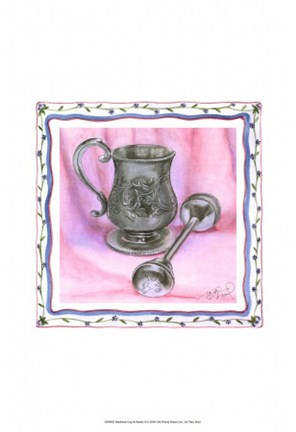 Framed Heirloom Cup & Rattle II Print