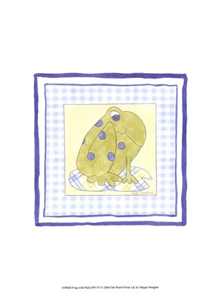 Framed Frog with Plaid (PP) IV Print