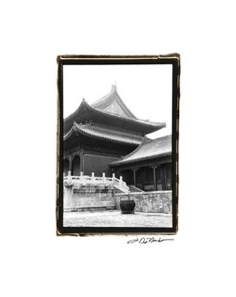 Framed Palace Rooftops, Beijing Print
