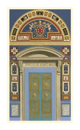 Framed Venetian Door II Print