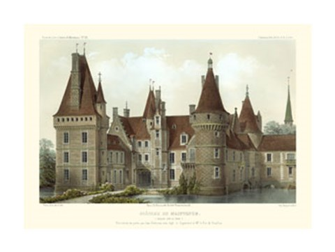 Framed French Chateaux IV Print