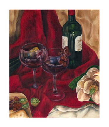 Framed Jennifer's Wine Indulgence II Print