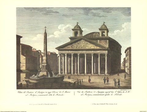 Framed View of the Pantheon Print