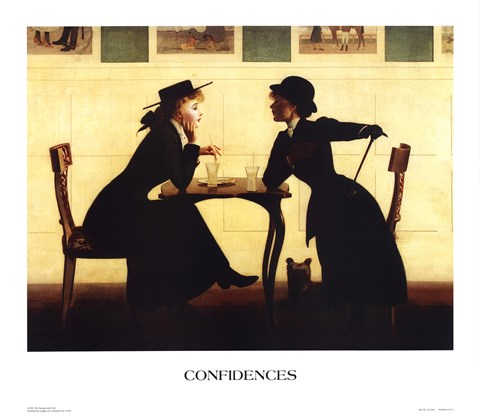 Framed Confidences Print