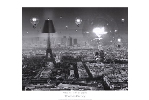 Framed Paris, The City of Lights Print