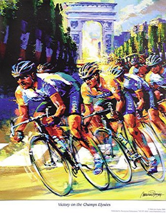 Framed Victory on the Champs Elyses Print