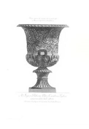 Classical Urns Vases Hc Hand Colored Print By Giovanni Battista