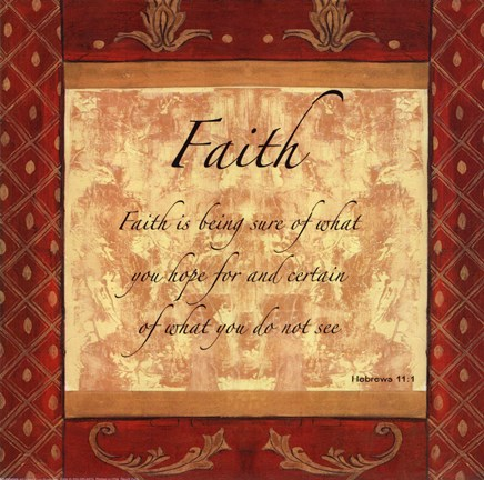 Framed Words to Live By, Traditional - FAITH Print