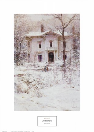 Framed Victorian Winter, 1987 Print