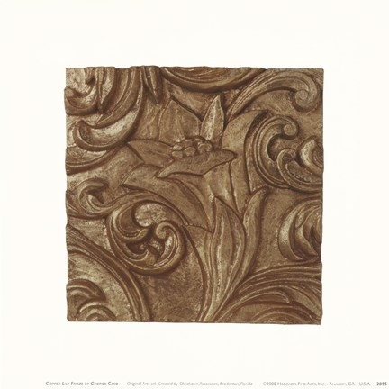 Framed Copper Lily Frieze Print
