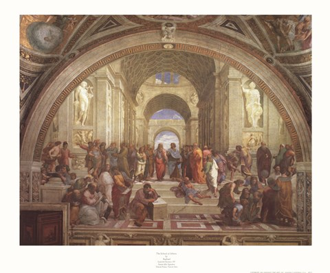 Framed School of Athens Print