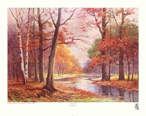 Framed Autumn Glade Print