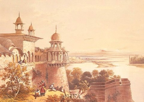 Framed Palace and Fort at Agra Print