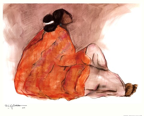 Seated Woman Fine Art Print By R C Gorman At