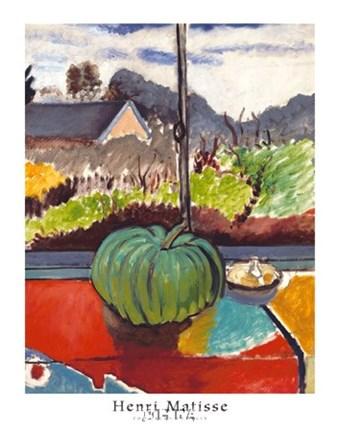 The Green Pumpkin Fine Art Print By Henri Matisse At
