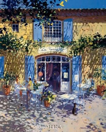 La Terrasse De Cafe Fine Art Print By Laurent Parcelier At