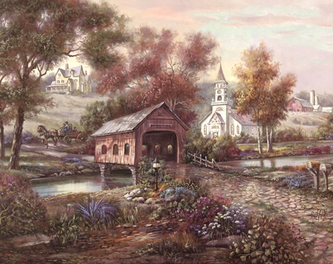 Razzberry Creek Crossing Fine Art Print By Carl Valente At