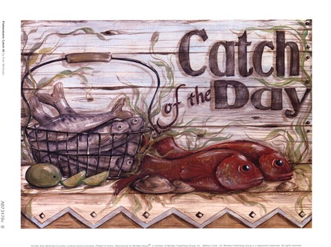 Framed Fisherman's Catch III Print